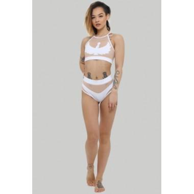 Goddess High Waisted Shorts – White