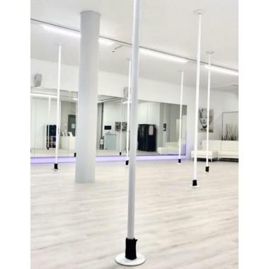 Neuwertige Pole Stangen Weiss