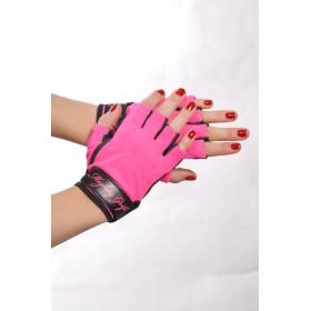 Handschuhe Lack pink